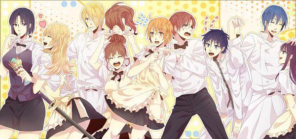 Tags: Anime, Pixiv Id 4666652, Working!!, Taneshima Popura, Satou Jun, Inami Mahiru, Takanashi Souta, Shirafuji Kyouko, Yamada Kirio, Souma Hiroomi, Yamada Aoi, Todoroki Yachiyo, Facebook Cover