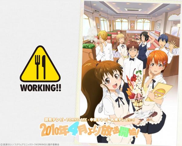 Tags: Anime, Adachi Shingo, A-1 Pictures, Working!!, Todoroki Yachiyo, Taneshima Popura, Satou Jun, Inami Mahiru, Takanashi Souta, Shirafuji Kyouko, Souma Hiroomi, Chef Uniform, Restaurant