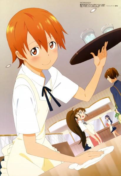 Tags: Anime, Adachi Shingo, A-1 Pictures, Working!!, Megami #121 2010-06, Taneshima Popura, Inami Mahiru, Matsumoto Maya, Takanashi Kazue, Restaurant, Scan, Official Art, Magazine (Source)