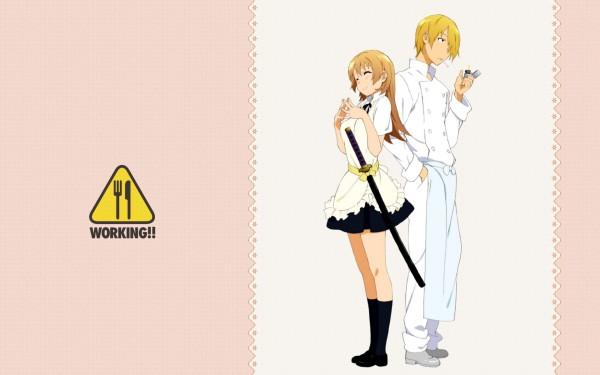 Tags: Anime, Adachi Shingo, A-1 Pictures, Working!!, Todoroki Yachiyo, Satou Jun, Chef Uniform, Official Art, Wallpaper