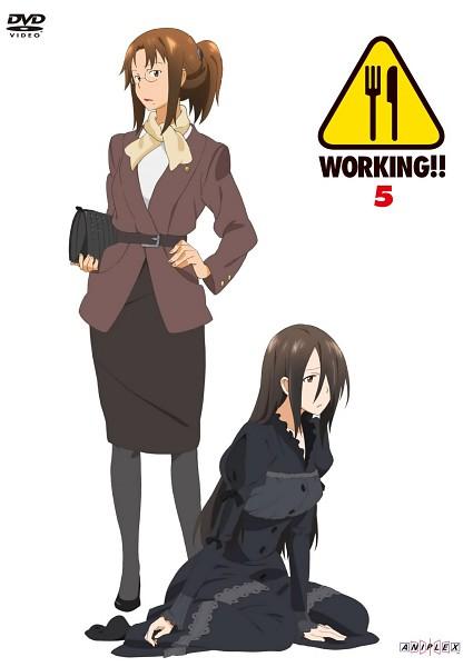 Tags: Anime, Adachi Shingo, A-1 Pictures, Working!!, Takanashi Kazue, Takanashi Izumi, Official Art, Scan, DVD (Source)