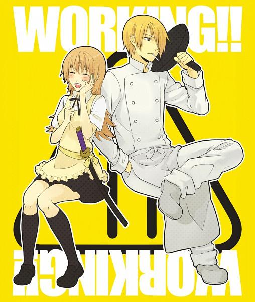 Tags: Anime, Mameo, Working!!, Todoroki Yachiyo, Satou Jun, Chef Uniform