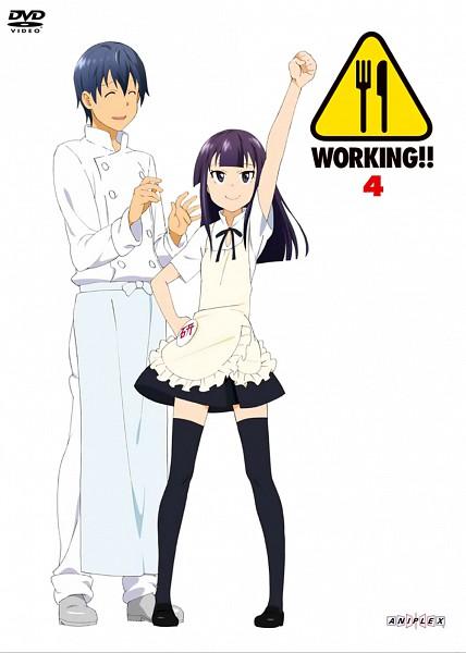 Tags: Anime, Adachi Shingo, A-1 Pictures, Working!!, Yamada Aoi, Souma Hiroomi, Chef Uniform, Scan, DVD (Source), Official Art