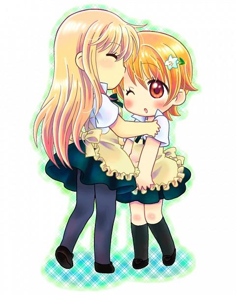 Tags: Anime, Kyapu-10, Working!!, Inami Mahiru, Takanashi Souta, Flower Clip, Pixiv
