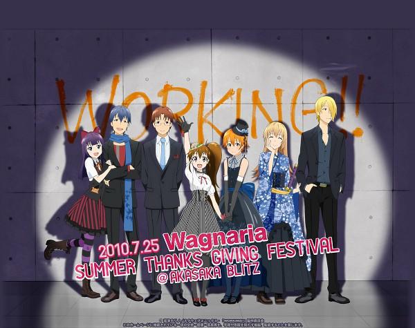Tags: Anime, Working!!, Takanashi Souta, Inami Mahiru, Souma Hiroomi, Todoroki Yachiyo, Yamada Aoi, Satou Jun, Taneshima Popura, Graffiti