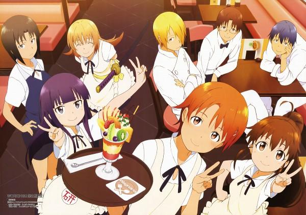 Tags: Anime, Adachi Shingo, A-1 Pictures, Working!!, Taneshima Popura, Satou Jun, Inami Mahiru, Takanashi Souta, Shirafuji Kyouko, Souma Hiroomi, Yamada Aoi, Todoroki Yachiyo, Chef Uniform
