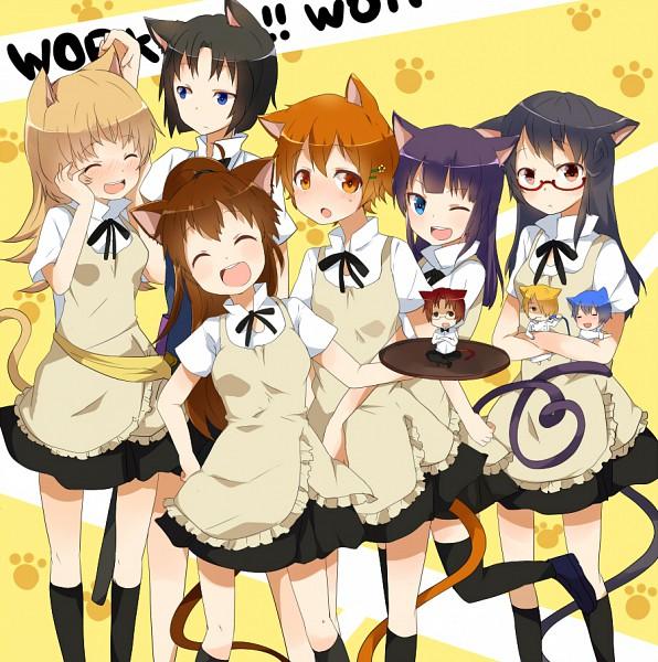 Tags: Anime, Ayase08, Working!!, Matsumoto Maya, Shirafuji Kyouko, Souma Hiroomi, Yamada Aoi, Todoroki Yachiyo, Taneshima Popura, Satou Jun, Inami Mahiru, Takanashi Souta, Flower Clip