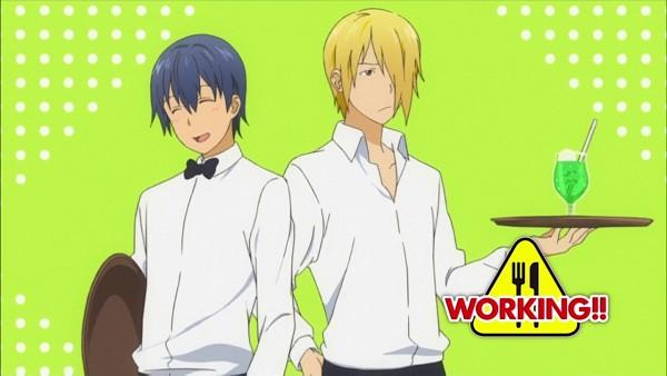 Tags: Anime, Working!!, Souma Hiroomi, Satou Jun, Wallpaper, Screenshot, Facebook Cover