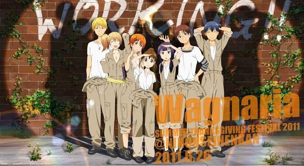 Tags: Anime, A-1 Pictures, Working!!, Takanashi Souta, Inami Mahiru, Souma Hiroomi, Todoroki Yachiyo, Yamada Aoi, Satou Jun, Taneshima Popura, Jumpsuit, Poplar, Official Art