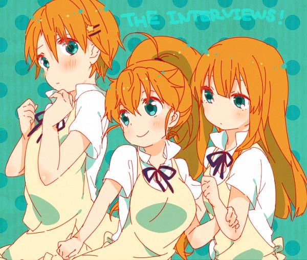 Tags: Anime, Aguri (Aguri0406-aoi), Working!!, Yamada Aoi, Taneshima Popura, Inami Mahiru