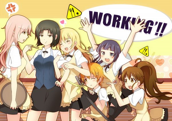 Tags: Anime, Bisonbison, Working!!, Takanashi Kotori, Todoroki Yachiyo, Yamada Aoi, Takanashi Souta, Taneshima Popura, Inami Mahiru, Shirafuji Kyouko, Fanart