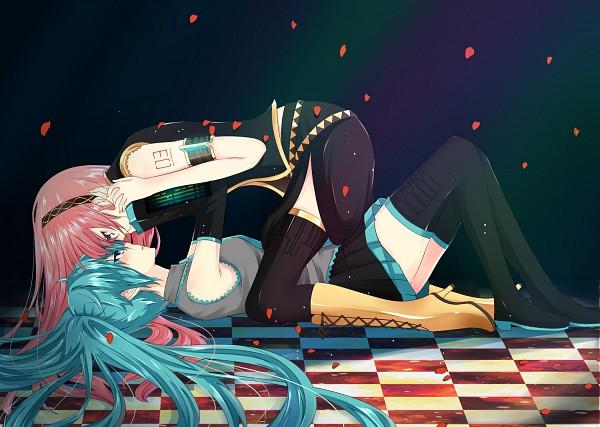 Tags: Anime, Nuko (Mikupantu), VOCALOID, Megurine Luka, Hatsune Miku, World's End Dancehall, Pixiv