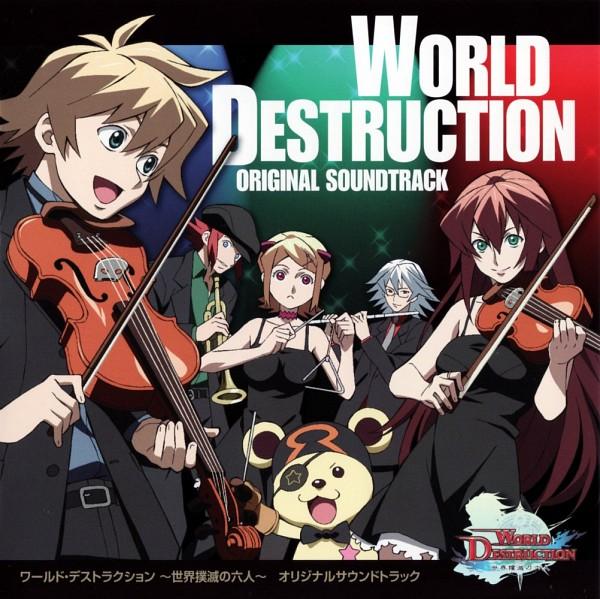 Tags: Anime, World Destruction: Guided Wills, Morte Asherah, Kyrie Illunis, Lia Dragonell, Agan Mardrus, CD (Source), Artist Request, Official Art, Sands Of Destruction
