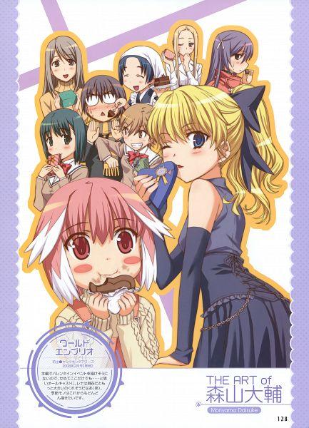 Tags: Anime, Moriyama Daisuke, World Embryo, Dengeki Moeoh 2012-06, Amami Riku, Arisugawa Rena, Chocolate Box, Chocolate Heart, Heart Box, Dengeki Moeoh, Scan