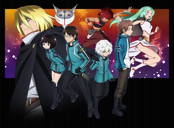 Tags: Anime, Toei Animation, World Trigger, Amatori Chika, Mikumo Osamu, Kuga Yuuma, Jin Yuuichi, Official Art