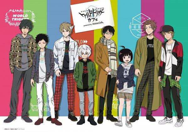 Tags: Anime, Toei Animation, World Trigger, Mikumo Osamu, Hyuse, Kuga Yuuma, Tachikawa Kei, Narasaka Touru, Kazama Souya, Jin Yuuichi, Amatori Chika, Product Advertising, Official Art