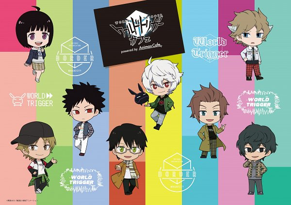 Tags: Anime, Toei Animation, World Trigger, Amatori Chika, Mikumo Osamu, Hyuse, Kuga Yuuma, Tachikawa Kei, Narasaka Touru, Kazama Souya, Jin Yuuichi, Product Advertising, Official Art