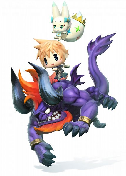 Tags: Anime, SQUARE ENIX, World of Final Fantasy, Tama (WOFF), Lann (WOFF), Official Art