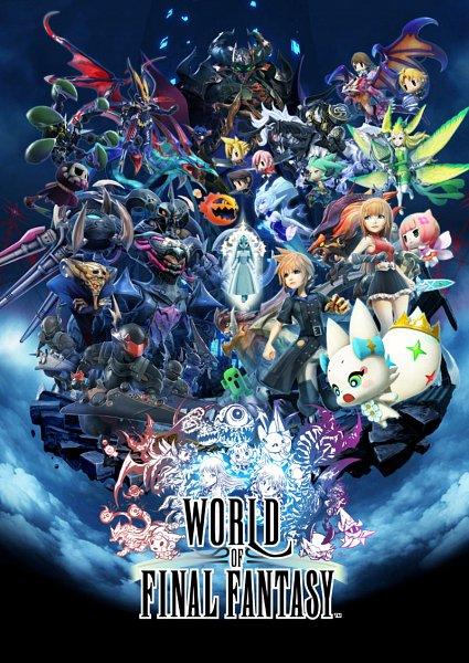 Tags: Anime, SQUARE ENIX, World of Final Fantasy, Brendilith (WOFF), Squall Leonhart, Reynn (WOFF), Cloud Strife, Lann (WOFF), Lightning Farron, Masked Woman (WOFF), Seraph (WOFF), Segriwadeath (WOFF), Tama (WOFF)