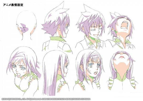 Tags: Anime, Nomura Tetsuya, SQUARE ENIX, World of Final Fantasy, Reynn (WOFF), Lann (WOFF), Official Art