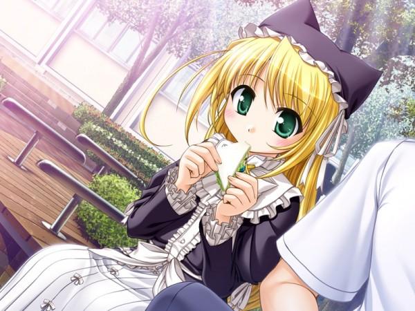 Tags: Anime, August (Studio), Yoake Mae yori Ruriiro na, Wreathlit Noel, Sandwich, CG Art