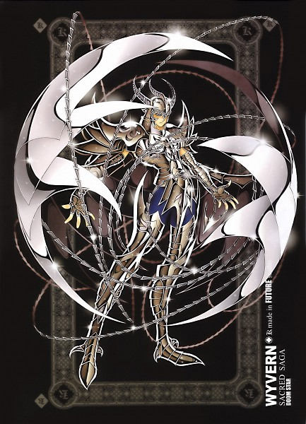 Tags: Anime, Future Studio, Saint Seiya, Sacred Saga, Wyvern Rhadamanthys, Mobile Wallpaper, The 108 Specters