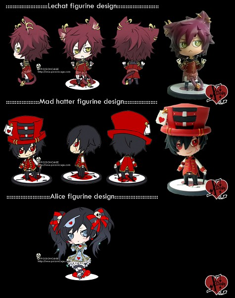 Tags: Anime, Poisoncage, X-down, Alice (X-down), Lechat (X-down), Mad Hatter (X-down), Striped Ribbon, deviantART, Original, PNG Conversion