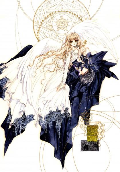 Tags: Anime, CLAMP, Geneon Pioneer, X, X Zero, Monou Kotori, Shirou Kamui, Mobile Wallpaper, Scan, Official Art