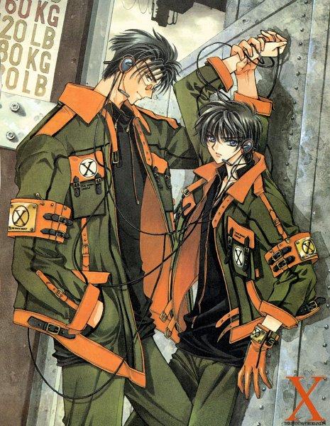 Tags: Anime, CLAMP, X, X Infinity, Shirou Kamui, Monou Fuuma, Official Art, Scan