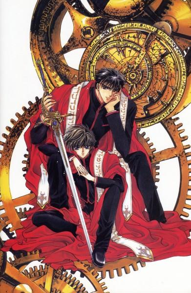 Tags: Anime, CLAMP, X, X Zero, Shirou Kamui, Monou Fuuma, Official Art, Mobile Wallpaper, Scan