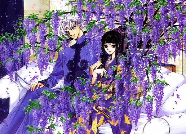 Tags: Anime, CLAMP, Geneon Pioneer, X, X Zero, Kishuu Arashi, Nataku (X), Wisteria, Official Art, Scan