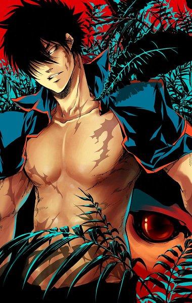 Tags: Anime, Amano Akira, Flamebier, Katekyo Hitman REBORN!, Xanxus, Sky Guardian, Boss, Pecs, Revision, bcy, Mobile Wallpaper, Colorization