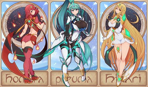 Tags: Anime, Pixiv Id 1532605, Xenoblade 2, Hikari (Xenoblade 2), Pneuma, Homura (Xenoblade 2), Pixiv, Fanart, Fanart From Pixiv, Xenoblade Chronicles 2