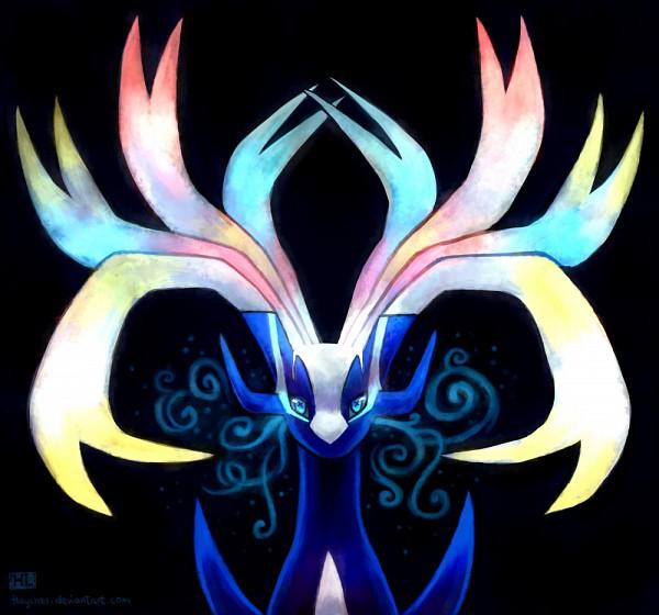 Tags: Anime, Haychel, Pokémon, Xerneas, Fanart, Fanart From Pixiv, Legendary Pokémon, Pixiv