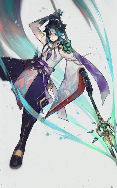 Tags: Anime, Afuriin, Genshin Impact, Xiao (Genshin Impact), 10:16 Ratio, 900x1440 Wallpaper, Mobile Wallpaper, Twitter, Wallpaper, Fanart