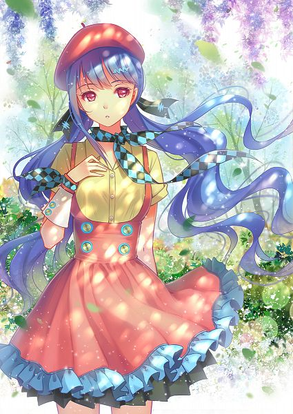 Tags: Anime, Tidsean, VOCALOID, Xin Hua, Wisteria, Checkered Neckwear, Mobile Wallpaper, PNG Conversion
