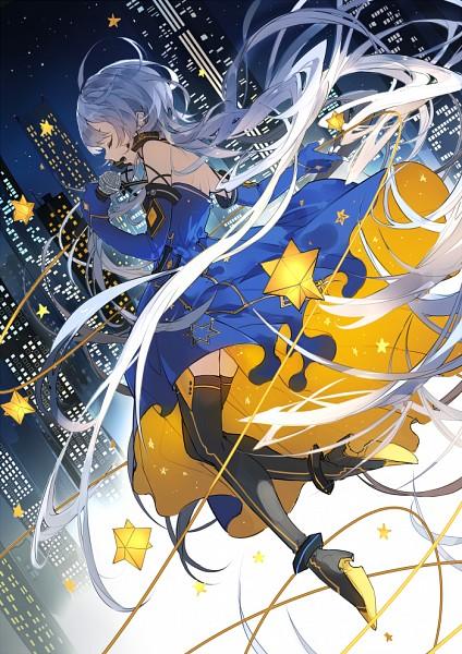 Tags: Anime, Nine (Pixiv3875056), VOCALOID, Xingchen, Skyscraper, Fanart, Fanart From Pixiv, Mobile Wallpaper, Pixiv