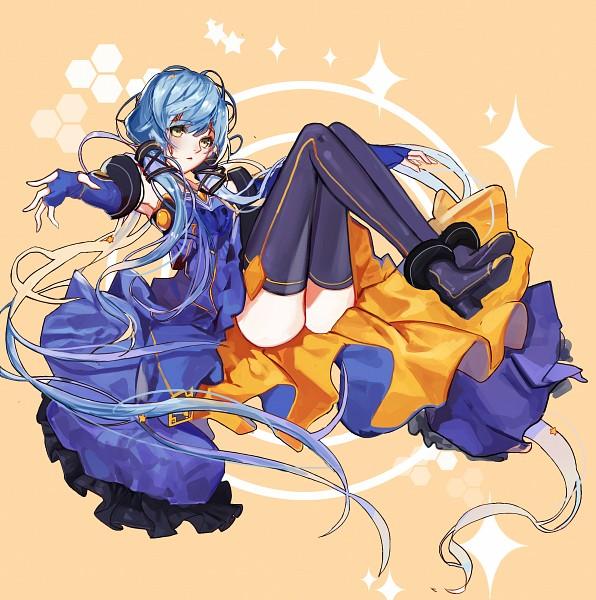 Tags: Anime, INU (Pixiv15866498), VOCALOID, Xingchen, Honeycomb Pattern, Fanart From Pixiv, Fanart, PNG Conversion, Pixiv