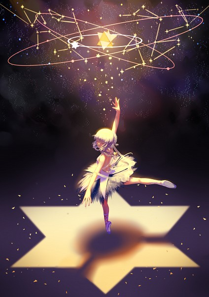 Tags: Anime, Pixiv Id 1079654, VOCALOID, Xingchen, Constellation, Arabesque, Standing On Tip Toes, En Pointe, Laced Shoes, Ballerina Outfit, Ballet, Fanart, Pixiv