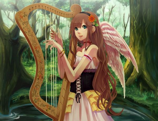 Tags: Anime, Xino, Harp, Pixiv, Original