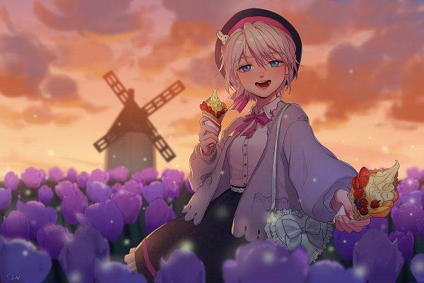 Tags: Anime, Pixiv Id 4925106, VOCALOID, YANHE, Crêpe, Handbag, Windmill, Fanart From Pixiv, Fanart, Pixiv
