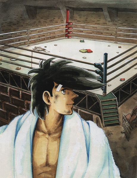 Tags: Anime, Ashita no Joe, Yabuki Joe, Boxing Ring, Artist Request