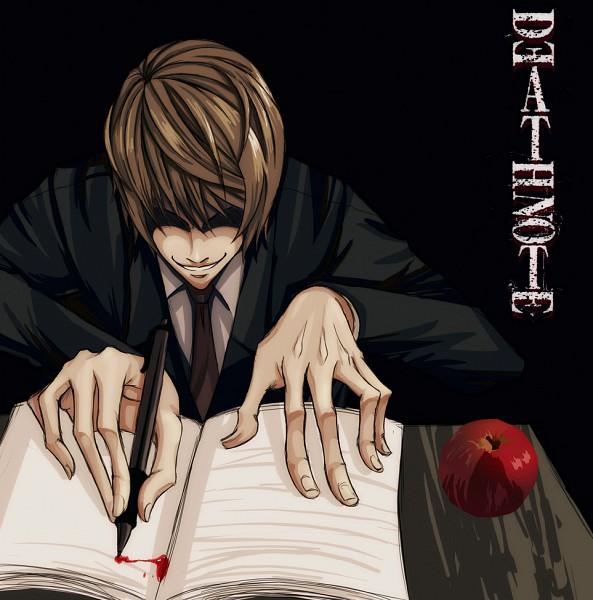 Tags: Anime, DEATH NOTE, Yagami Light, Death Note (Object), Writing, Artist Request, Light Yagami