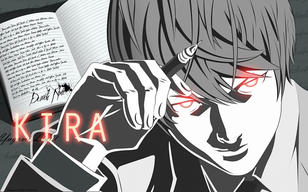 Tags: Anime, DEATH NOTE, Yagami Raito, Death Note (Object), Wallpaper, Vector, Artist Request, Light Yagami