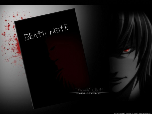 Tags: Anime, DEATH NOTE, Yagami Raito, Death Note (Object), Fanmade Wallpaper, Edited, Light Yagami