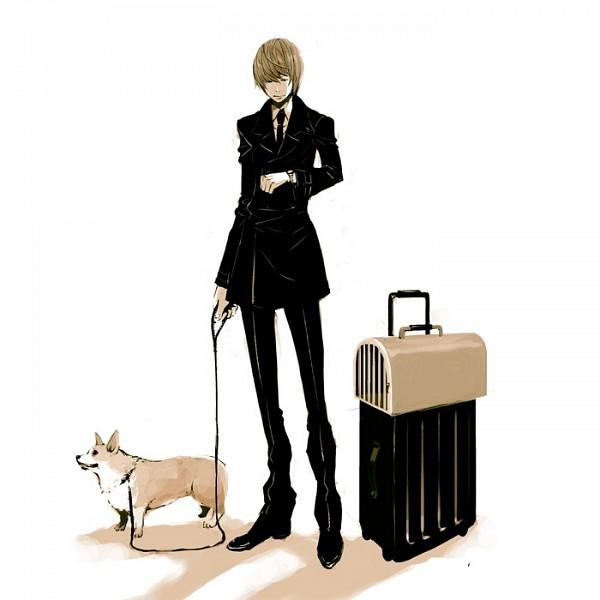 Tags: Anime, DEATH NOTE, Yagami Raito, Fanart, Artist Request, Light Yagami