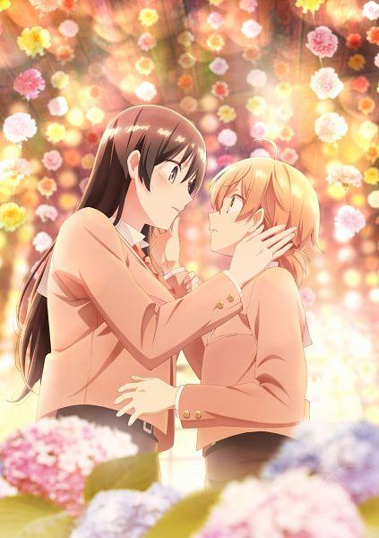 Tags: Anime, Gohda Hiroaki, TROYCA, Yagate Kimi ni Naru, Koito Yuu, Nanami Touko, Motion Blur, Key Visual, Official Art, Bloom Into You