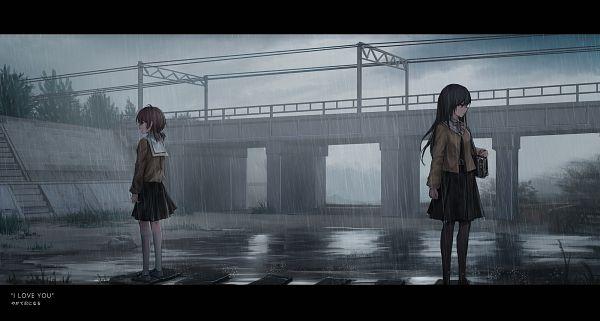 Tags: Anime, Pixiv Id 15131268, Yagate Kimi ni Naru, Koito Yuu, Nanami Touko, Fanart, Fanart From Pixiv, Pixiv, Bloom Into You