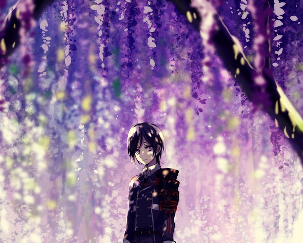 Tags: Anime, Kyanarinu, Touken Ranbu, Yagen Toushirou, Wisteria, Pixiv, Fanart, Fanart From Pixiv