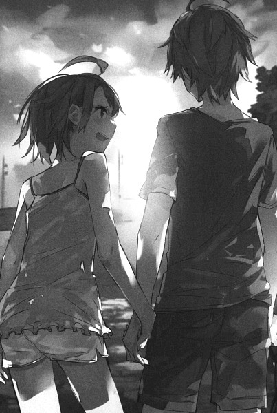 Tags: Anime, Ponkan Eight, Yahari Ore no Seishun Love Come wa Machigatteiru, Hikigaya Komachi, Hikigaya Hachiman, Scan, Novel Illustration, Mobile Wallpaper, Official Art, My Youth Romantic Comedy Is Wrong As I Expected